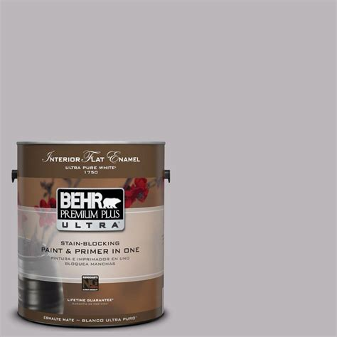 behr premium plus ultra 1 gal ul250 15 lilac interior flat enamel paint 175401 the