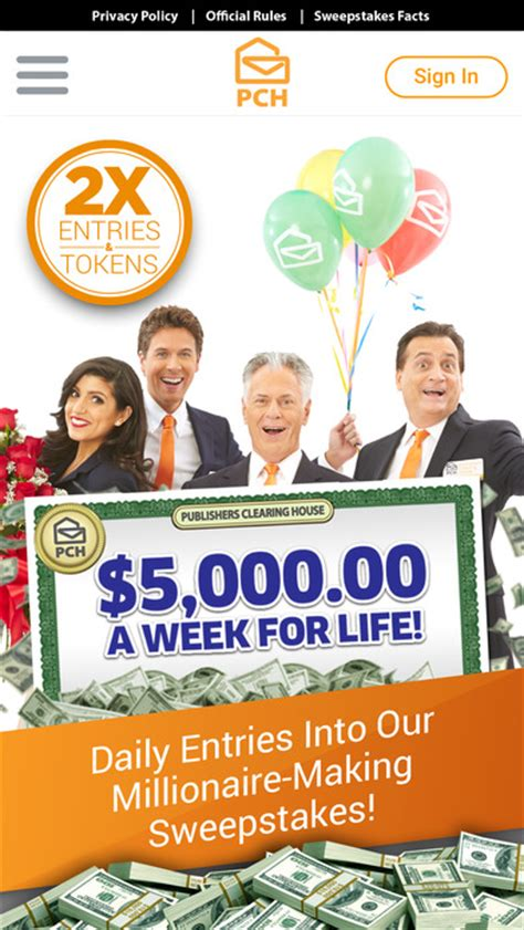 Sweepstakes App - the pch app cash prizes sweepstakes mini games app