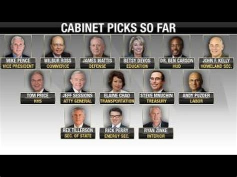 Cabinet Picks Will All S Cabinet Picks Be Approved