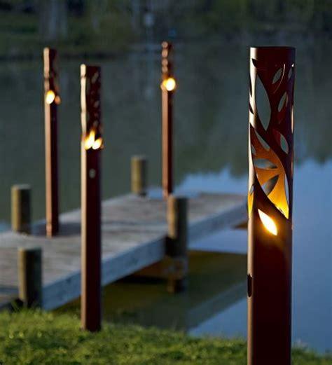 metal patio torches modern patio outdoor
