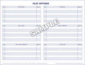 football play sheet template s football scorebooks