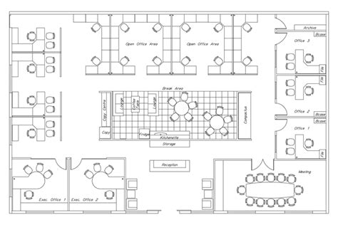 Executive Office Floor Plans by Cad Layout And Interior Design Corporate Interiors