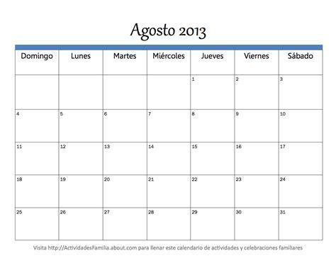 Calendario Agosto 2013 Calendario Agosto 2013 Universo Guia