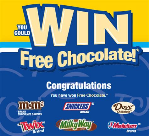 Twix Instant Win - free mars chocolate instant win giveaway m m s snickers twix milky way dove 3