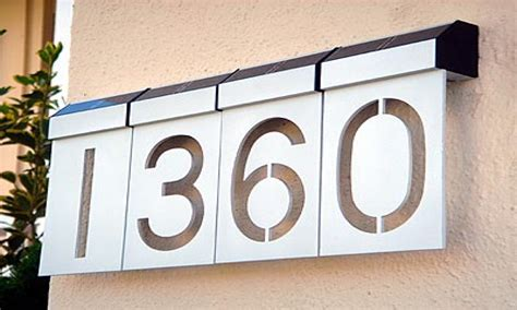 solar powered house numbers address illuminated lighted lighted address sign solar led house numbers solar led