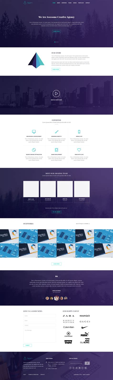 one page template html tajam free one page html template free html5 templates