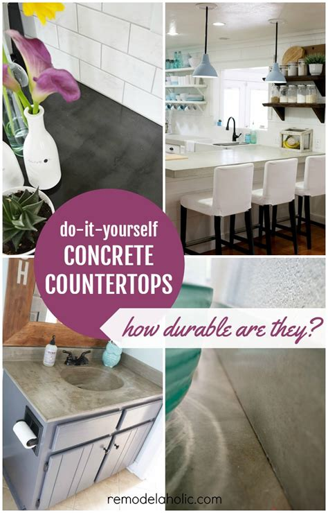 Concrete Countertop Reviews by Remodelaholic Diy Concrete Countertop Reviews