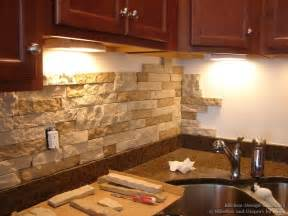Faux Kitchen Backsplash by Faux Stacked Stone Kitchen Backsplash
