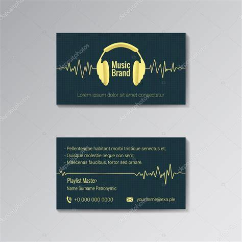 dla business card template wizyt 243 wki szablon dla marki muzyki grafika wektorowa