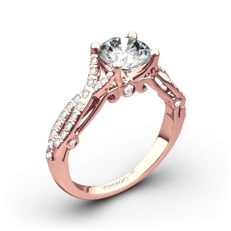 4 prong twisted shank engagement ring by verragio