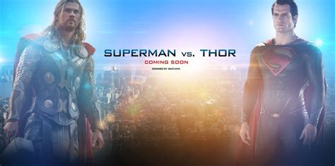 movie thor vs superman superman vs thor by krallbaki on deviantart