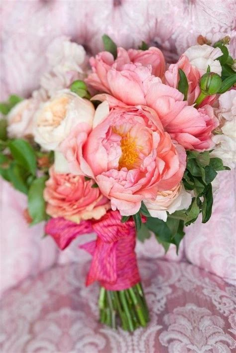 peonies bouquet pink peony wedding bouquet outside pinterest