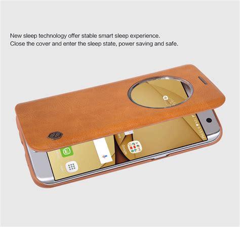 Samsung Galaxy S7 G930fd Flip Leather Cover Nillkin Qin Original nillkin pc leather flip window smart sleep phone for