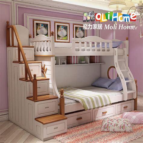 bunk bed children american mediterranean wood bed children bed bunk bed