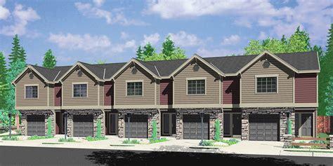 multi family living house plans duplex house plans town house plans reverse living house plans