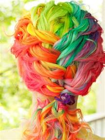 rainbow color hair ideas rainbow hair