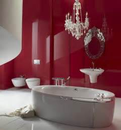 badezimmer rot salle de bain la couleur de la