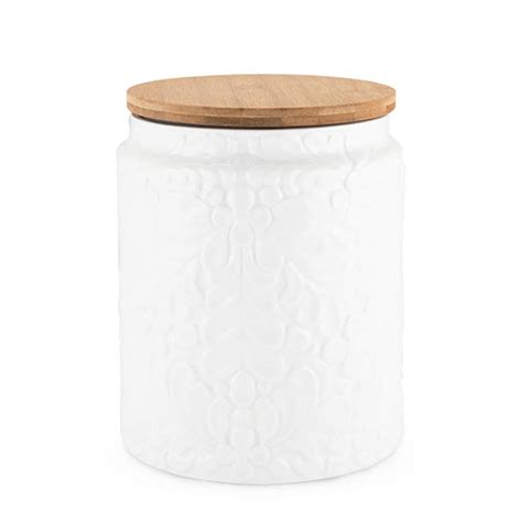 Texture Canister Set pantry textured ceramic large canister by twine