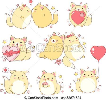 imagenes gatos kawai kawaii lindo estilo conjunto gatos kawaii lindo