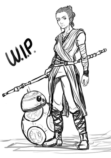 coloring pictures of rey from star wars rey star wars coloring pages