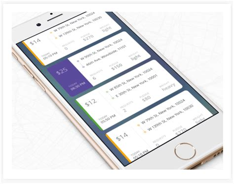 card layout android design mobile ui ux design on behance