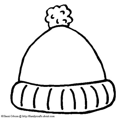 stocking hat coloring page mitten weather art lessons from artrait llc
