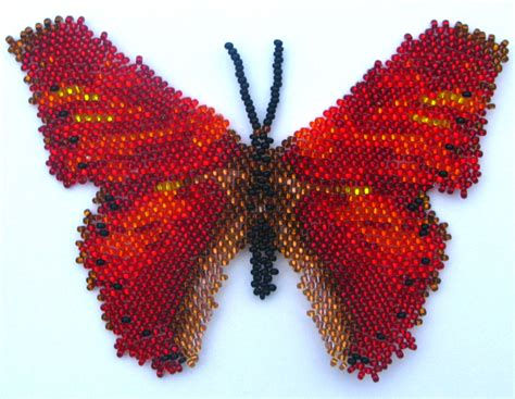 beaded butterfly pattern butterfly cymothoe coccinata bead patterns beaded