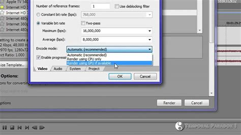 sony vegas pro 11 tutorial how to render in 720p hd sony vegas pro 11 how to render 720p 1080p hd video for