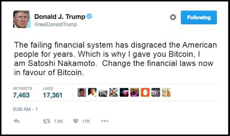 Bitcoin Twitter | breaking news donald trump tweets i am satoshi