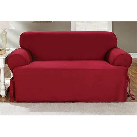 fit cotton duck sofa  cushion slipcover reviews