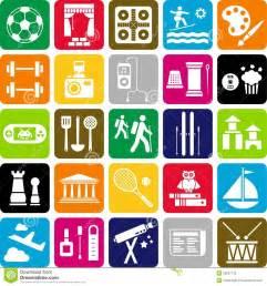 interest and hobbies for resume sles de pictogrammen de hobby royalty vrije stock foto