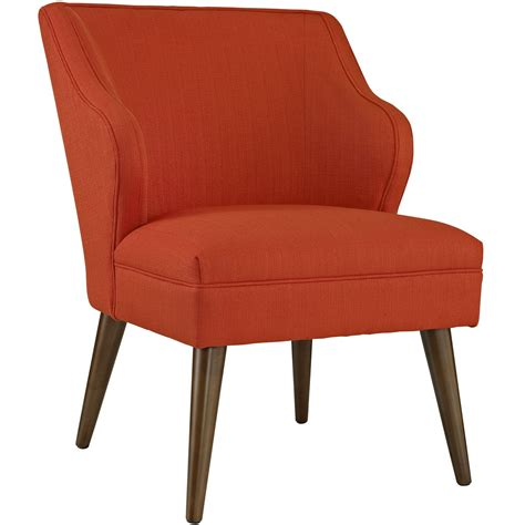 modern fabric armchair swell modern fabric upholstered armchair with dowel wood legs atomic red