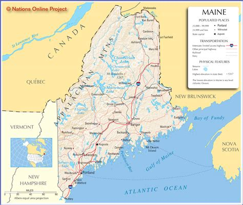 maine on map map of maine america maps map pictures