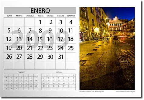 calendario mesa photoshop calendario 2009 con tus fotos en photoshop totalmente