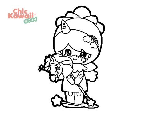 imagenes de muñecas kawaii para colorear dibujo de ni 241 a disfrazada kawaii para colorear dibujos net