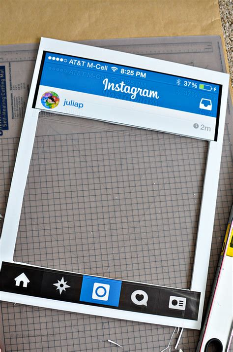 photo board template costume diy instagram board
