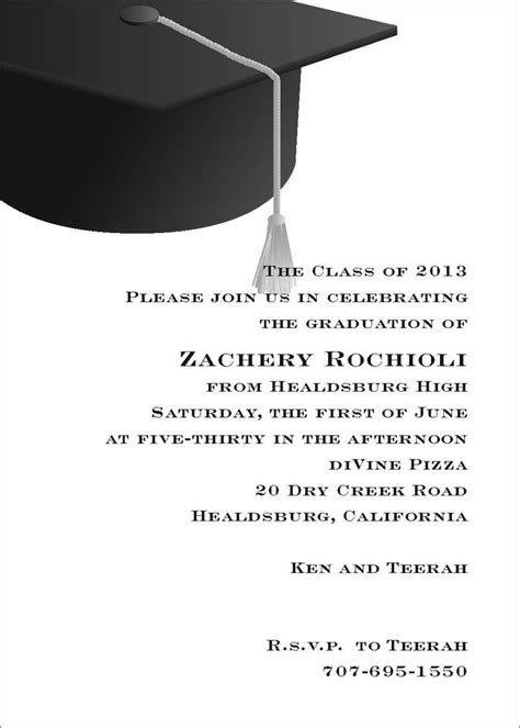 Invitation Letter Of Graduation Graduation Invitation Yelp