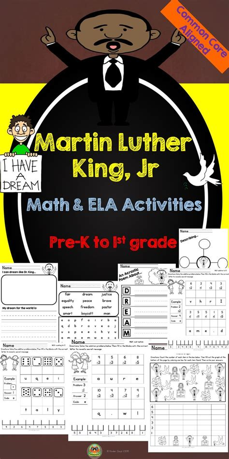 Martin Luther King Jr Math Worksheets by Martin Luther King Jr Math And Literacy Activities Is A