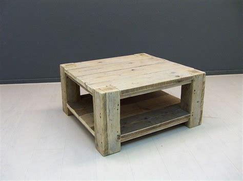 oude steigerhouten salontafel salontafel van oud gebruikt steigerhout met extra schap