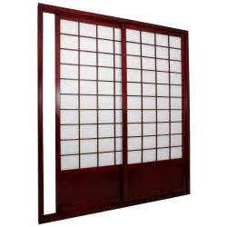 Sliding Panel Room Divider Furniture Shoji Sided Sliding Door Kit Room Divider Room Dividers At Hayneedle