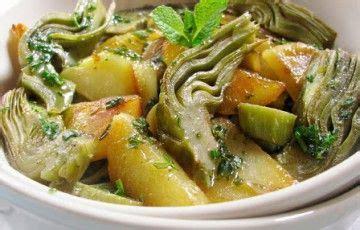 come si cucinano i carciofi in padella carciofi e patate aromatici recipe