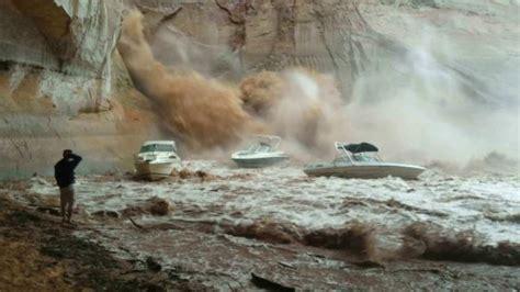 boat parts page arizona flash flood at lake powell sinks boat houseboat magazine