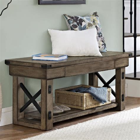 hallway bench with storage entryway storage bench rustic hallway from cindictc on ebay