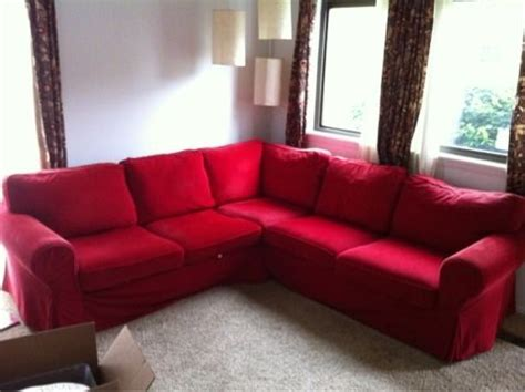 red ektorp sofa ektorp sectional in red living room ideas pinterest