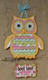 Paper Owls - paper or fabric owl craft crafting inspirations diy