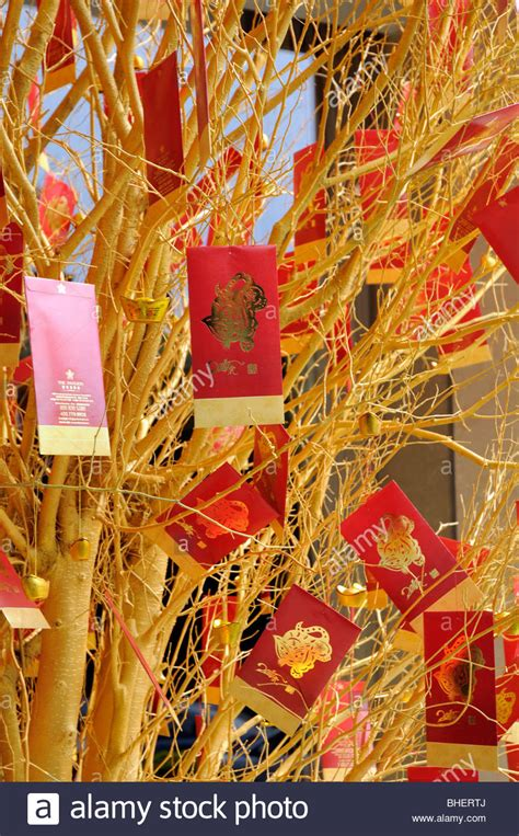 money tree for new year new year money tree with envelopes stock photo