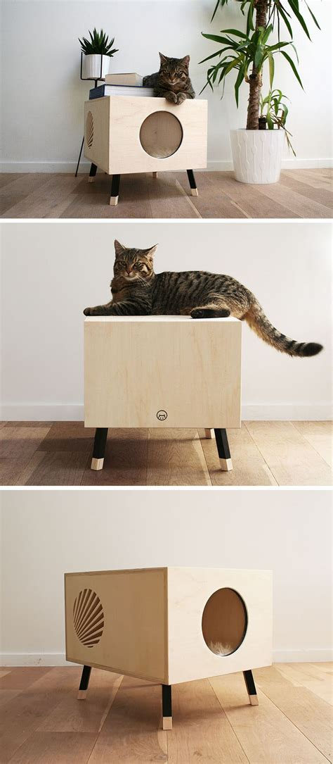 modern cat bed furniture this minimalist modern cat bed doubles as a functional