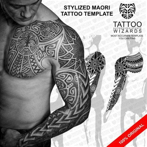 Tatoo Templates by Stylized Maori Warrior Vector Template Stencil