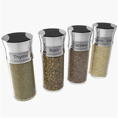 Seasoning Bottles 3d Spice Bottles Set 4