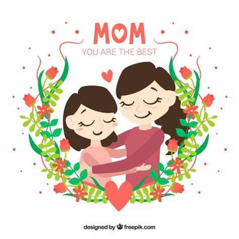 mom day floral mother s day background vector free download